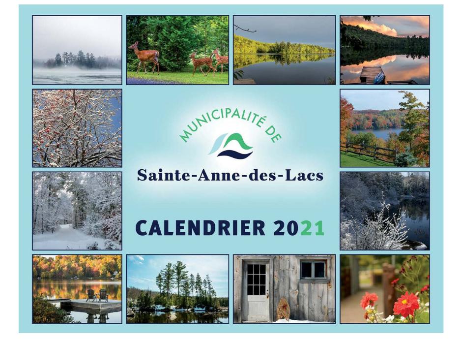 Calendrier de la municipalité | La Municipalité de Sainte Anne des